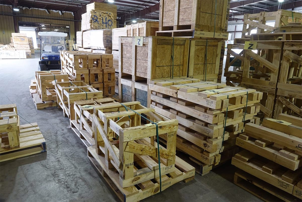 wood crates and boxes